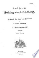 Karl Georgs Schlagwort-katalog