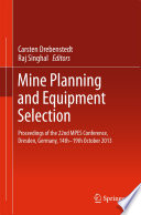 Mine Planning and Equipment Selection Book