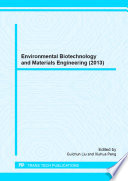 Environmental Biotechnology And Materials Engineering 2013  Book PDF