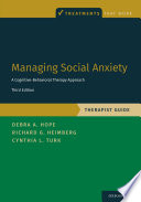 Managing Social Anxiety  Therapist Guide