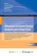 Advances in Green Energy Systems and Smart Grid