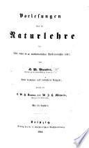 Vorlesungen über die Naturlehre für Leser, denen es an mathematischen Vorkenntnissen fehlt. Zweite vermehrte und verbesserte Ausgabe, besorgt von E. W. H. Brandes und W. J. H. Michaelis