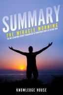 Pdf Summary of the Miracle Morning
