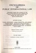 Encyclopedia Of Public International Law