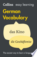 Read Online Easy Learning German Vocabulary (Collins Easy Learning German) For Free