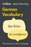 Easy Learning German Vocabulary  Collins Easy Learning German