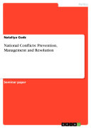 Pdf National Conflicts: Prevention, Management and Resolution