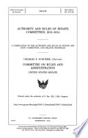 Authority and Rules of Senate Committees