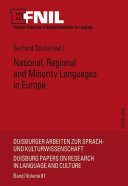 National, regional and minority languages in Europe