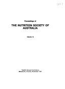 Proceedings of the Nutrition Society of Australia