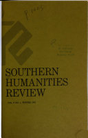 Southern Humanities Review Book