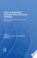 Post Communist Studies And Political Science