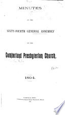 Minutes of the General Assembly of the Cumberland Presbyterian Church Book