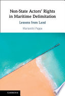 Non State Actors  Rights in Maritime Delimitation