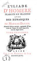 Les oeuvres d'Homere traduites du grec par mad. Dacier avec l'introduction en sept volumes