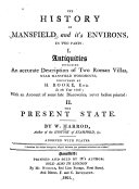 The History of Mansfield and It's Environs, ...