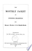 The Monthly Packet of Evening Readings for younger memebers of the english church