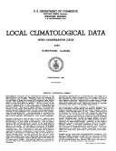 Local Climatological Summary with Comparative Data