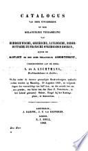 Ongebonden boeken, toebehoorende aan de firma S. en J. Luchtmans