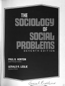 The Sociology of Social Problems Book