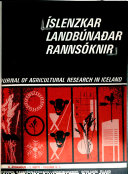 Journal Of Agricultural Research In Iceland