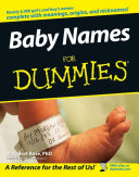 Baby Names For Dummies ebook