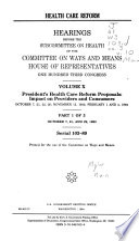 Health Care Reform: Serial 103-89