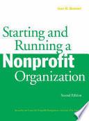 Starting and Running a Nonprofit Organization