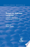 Routledge Revivals Essays On Style And Language 1966
