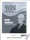Leveled Texts For Differentiated Content Area Literacy Early America Kit