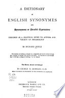 A dictionary of English synonymes and synonymous or parallel expressions Book