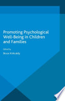 Promoting Psychological Wellbeing in Children and Families Book