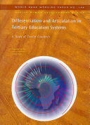 Differentiation And Articulation In Tertiary Education Systems
