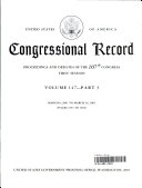 Congressional Record, V. 147, Pt. 3, March 8, 2001 to March 26, 2001