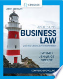 Anderson's Business Law & The Legal Environment - Comprehensive Edition