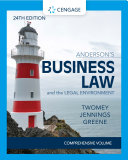 Anderson s Business Law   The Legal Environment   Comprehensive Edition