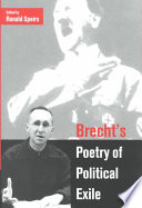 Free Brecht's Poetry of Political Exile Read Online