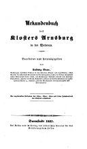Urkundenbuch des Klosters Arnsburg in der Wetterau