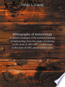 Bibliography Of Meteorology Storms