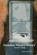 Canadian Theatre History Book PDF