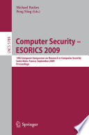 Computer Security -- ESORICS 2009