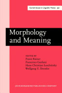 Morphology and Meaning