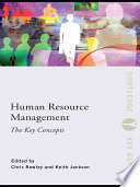 Human Resource Management  The Key Concepts Book