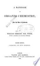 A Handbook of Organic Chemistry Book