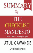 Summary Of The Checklist Manifesto PDF