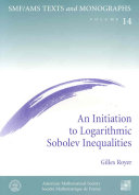 Pdf An Initiation to Logarithmic Sobolev Inequalities