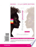 Abnormal Psychology, Books a la Carte Edition, Plus New Mypsychlab with Pearson Etext -- Access Card Package