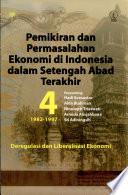 Pemikiran Dan Permasalahan Ekonomi Di Indonesia Dalam Setengah Abad Terakhir