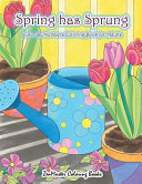 Adult Color by Numbers Coloring Book of Spring