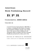 American Book Publishing Record